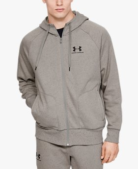 Felpa con cappuccio UA Speckled Fleece Full Zip da uomo