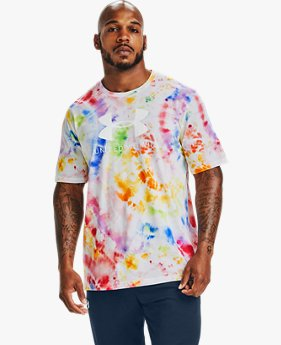Playera Manga Corta UA UWW Pride Tie Dye para Hombre