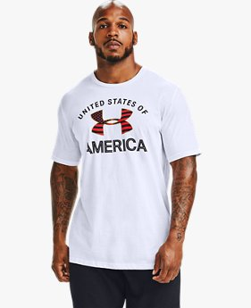 Men's UA Upstream Camo USA Flag Fill Short Sleeve