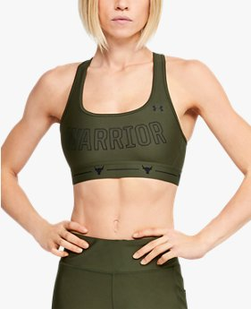 Women's Project Rock Armour® Mid Crossback Warrior Sports Bra