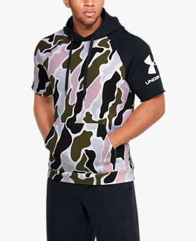 Men's UA Rival Fleece Colourblock Camo Short Sleeve Hoodie