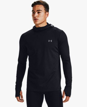 Sweat à capuche UA Qualifier Ignight ColdGear® pour homme
