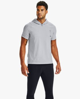 Men's UA Run Anywhere Short-Sleeve Hoodie