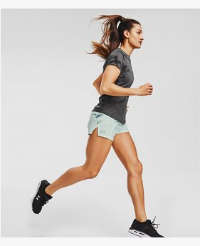 Women's UA Launch 3'' Printed Shorts