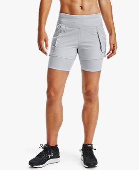 Damen UA Run Anywhere 2-in-1-Shorts