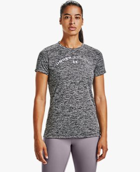 Women's UA Tech™ Twist Graphic LU Short Sleeve