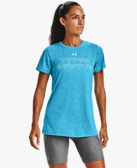Women's UA Tech™ Twist Graphic Wordmark Short Sleeve