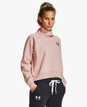 Damen UA Rival Fleece Wrap Neck