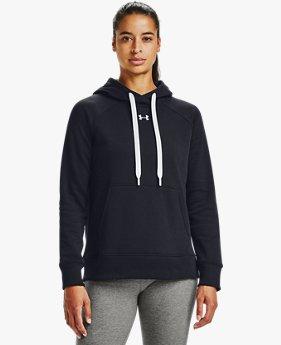 Sudadera con capucha de tejido Fleece UA Rival HB para mujer