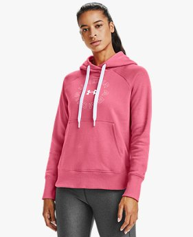 Damen UA Rival Fleece Metallic Hoodie