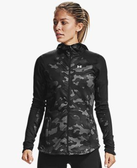 Felpa con cappuccio ColdGear® Armour Full Zip da donna