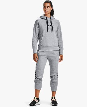 Damen UA Rival Fleece Shine Jogginghose