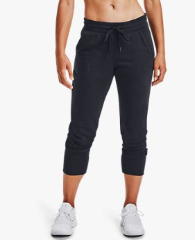 Jogger UA Rival Fleece Metallic da donna