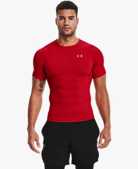 Men's UA RUSH™ HeatGear® 2.0 Compression Short Sleeve