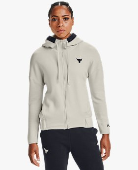 Damen Project Rock Charged Cotton® Fleece Oberteil mit durchgehendem Zip