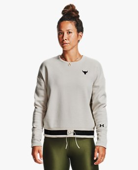 Women's Project Rock Charged Cotton® Fleece Crew