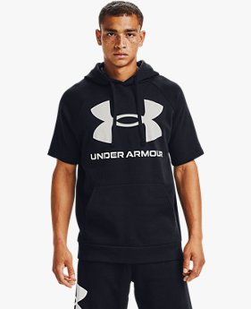 Men's UA Rival Fleece Big Logo Short Sleeve Hoodie