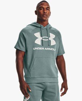 Men's UA Rival Fleece Big Logo Short Sleeve Hoodie