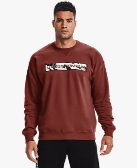 Men's UA Rival Fleece Camo Wordmark Crew