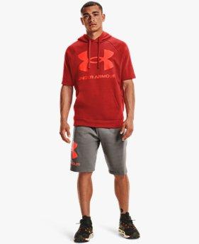Pantalón corto de tejido Fleece UA Rival Big Logo para hombre