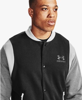 Men's UA Rival Fleece AMP Varsity Bomber Jacket