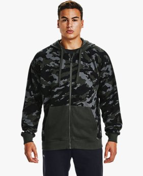Men's UA Rival Fleece Camo Full Zip