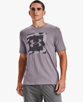 T-shirt à manches courtes UA Camo Box Logo pour homme