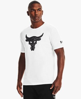 Men's Project Rock Brahma Bull Logo Short Sleeve