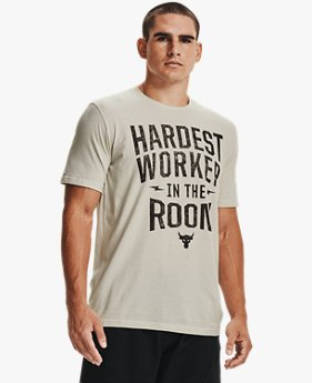 Herenshirt Project Rock Hardest Worker met korte mouwen