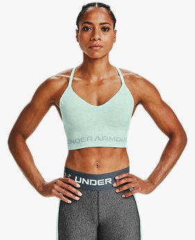 Damessport-BH UA Seamless Low Long Heather
