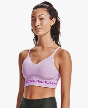 Sujetador Deportivo UA Seamless Low Long Heather para Mujer
