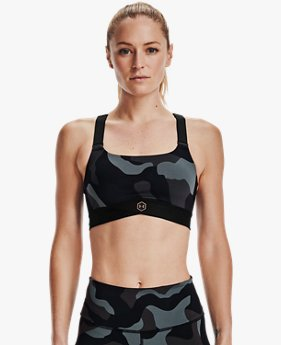Women's UA RUSH™ Mid Camo Sports Bra