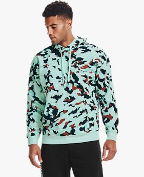 Sweat à capuche motif camouflage UA Rival Fleece pour homme