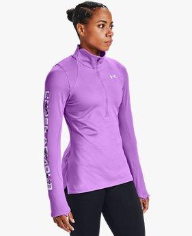 Damen ColdGear® Armour Graphic mit halbem Zip