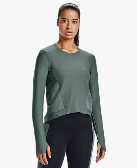 Women's UA Run Anywhere Cropped Long Sleeve