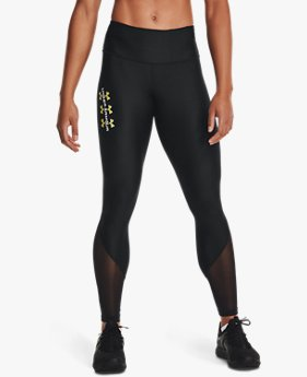 Damen HeatGear® Armour Mesh Wordmark Leggings