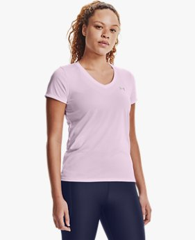 Women's UA Tech™ Bubble Heather Short Sleeve V-Neck