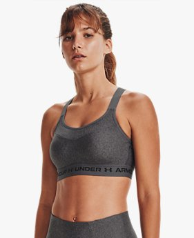 Women's Armour® High Crossback Heather Sports Bra