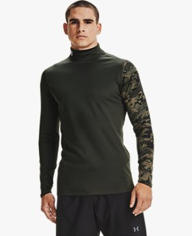 Men's ColdGear® Armour Printed Mock