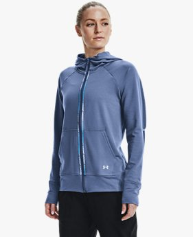 Women's UA Rival Terry Taped Full Zip Hoodie