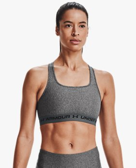 Women's Armour® Mid Crossback Heather Sports Bra