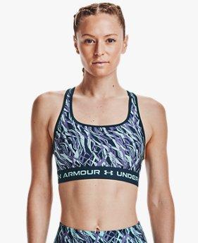 Bra Deportivo Armour® Mid Crossback Print para Mujer