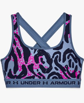 Women's Armour® Mid Crossback Printed Sports Bra