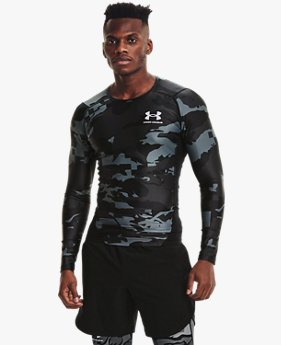 Men's UA Iso-Chill Compression Printed Long Sleeve