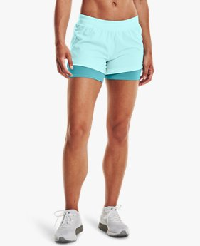 Damesshorts UA Iso-Chill Run 2-in-1