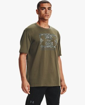 Men's UA ABC Camo Boxed Logo Short Sleeve