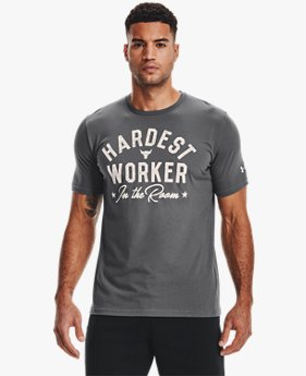 Playera Manga Corta Project Rock Hard Worker para Hombre