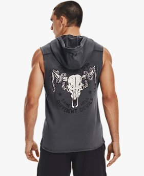 Men's Project Rock Terry Snake Sleeveless Hoodie