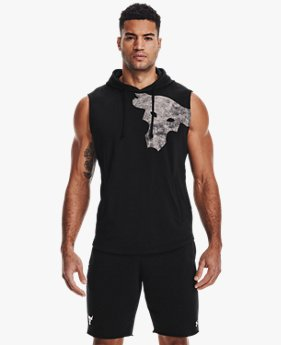 Men's Project Rock Terry Bull Sleeveless Hoodie