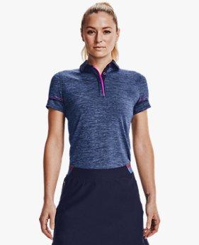 Women's UA Zinger Heathered Short Sleeve Polo